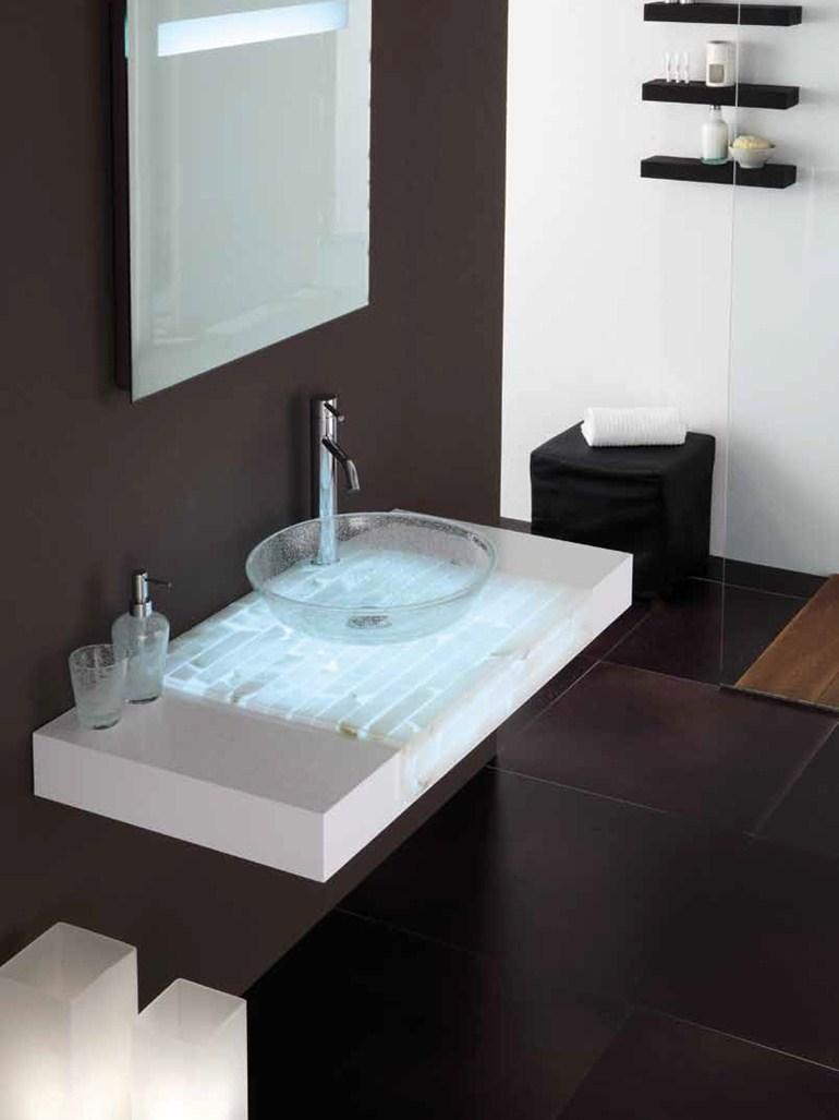 Piano Per Lavabo Da Appoggio piano per lavabo in alabastro puro - modena design